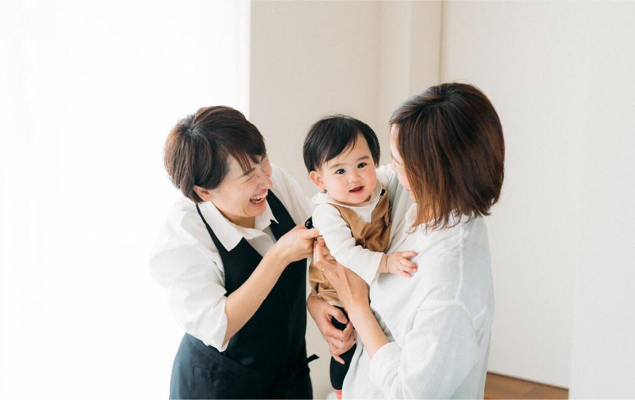 ママの笑顔が家族のしあわせ。ママエールは、ママのためのいつでも頼れる助産院です。